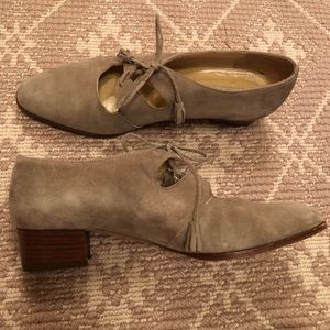 Ann Taylor Italian made suede shoes.Size 7.5